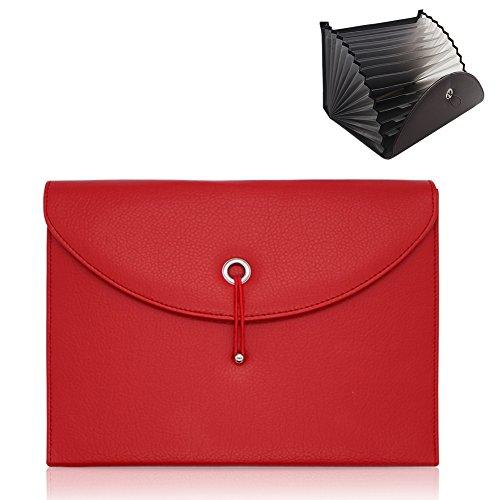 Best Generic Leather Wallet - Oak-Pine Expandable Portable Accordion File Folder