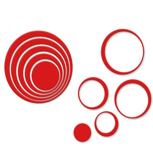 Wall Sticker Leegor 1 Set Indoors Decoration Circles Creative Stereo Removable 3d Diy Wall Stickers Red