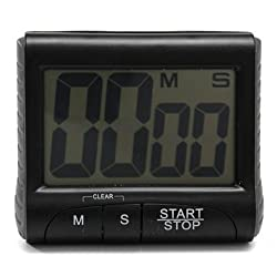 Walid-Digital Kitchen Timer Count Down Up Clock Loud Alarm(Color White)