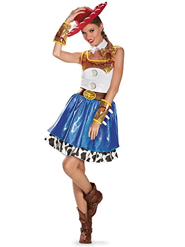 Disguise Disney Pixar Toy Story Jessie Glam Womens Adult Costume, Blue/White/Yellow/Black, Large/12-14 -