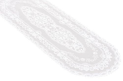 Miles Kimball White Lace Table Runner - 15 x 45