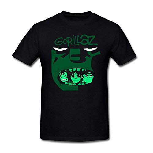 Danielrio Men&Youth Funny Gorillaz Russel Talked About Friends T-Shirt Black 3X-Large (Gorillaz Tee Shirts)