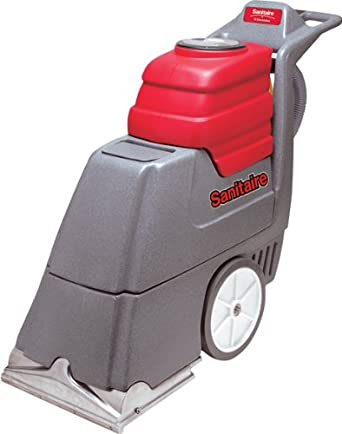 Sanitaire sc6090b commercial upright carpet extractor with for Carpet extractor vacuum motor
