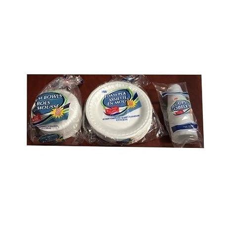 Tailgate Supplies Disposable Foam Plates Party Supplies 9 Oz Disposable Cups Gathering Disposable Dinnerware  sc 1 st  Amazon.com & Amazon.com: Tailgate Supplies Disposable Foam Plates Party Supplies ...