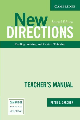 Read Online By Peter S. Gardner New Directions Teacher's Manual: An Integrated Approach to Reading, Writing, and Critical Thinking ( (2nd Edition) pdf epub