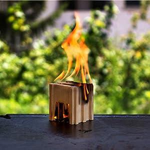 Accendifuoco naturale 100% di legno abete, indispensabile per accensione ecologica della vostra legna da ardere per… 3 spesavip