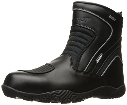 Joe Rocket Men's Meteor FX Mid Leather Motorcycle Riding Boot (Black, Size 12) by Joe Rocket