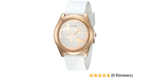 Amazon.com: Guess G Twist White Dial Silicone Strap Ladies Watch W0911L5: GUESS: Watches