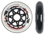 Rollerblade Speed Wheels (8-Pack), White, 90mm