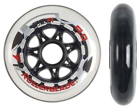 Rollerblade Speed Wheels (8-Pack), White, 90mm by Rollerblade (Image #1)
