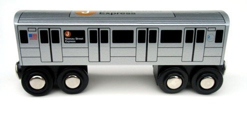 Munipals Wooden Railway NYC Subway Car ()