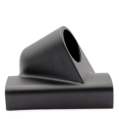 Black EDTara Ocamo 52mm 1 Hole Right Side Car Pillar Single Gauge Meter Mount Holder