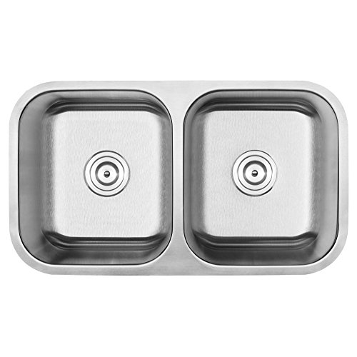 Ticor 31-1 8 Stainless Steel Undermount 18 Gauge Double Equal Bowl Kitchen Sink