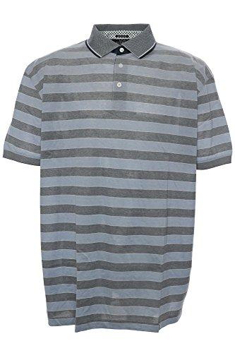 Kitaro  Herren Polo Shirt Selected Quality Polohemd kurzarm black//grey  M-XXL