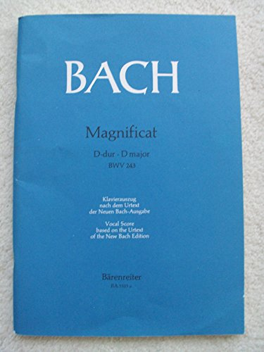 Music Christmas Bach Sheet (Magnificat in D Major, BWV 243. Piano Vocal Score based on the urtext of the New Bach Edition)