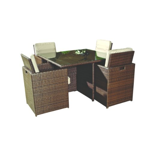 Bosmere m655 4 seat cube set cover garden rattan furniture for Rattan garden furniture seat covers