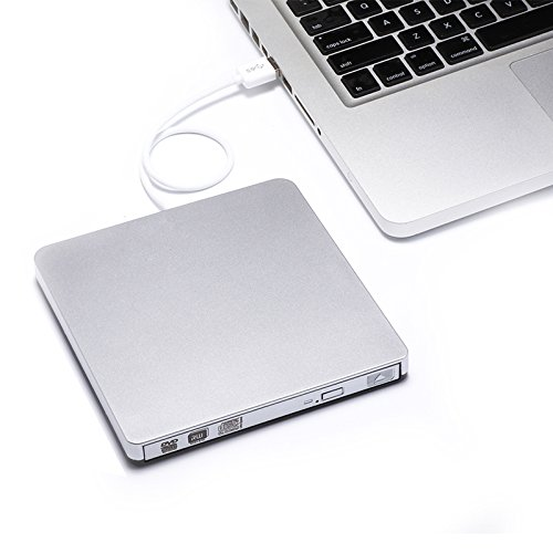 Record Dvd Rw (So-well External CD Drive USB 3.0 Ultra Portable Storage Drive, External DVD Player/Writer/Burner CD DVD RW Drive for Apple Macbook, Macbook Pro or Other Laptop/Desktops Win10)