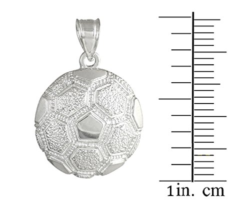 10 ct 471/1000 Or Blanc Football Sport- Pendentif