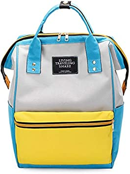 Tzowla College School Travel Laptop Backpack Business Book Doctor Shopping Bag Light Weight Casual Daypack for Women Men Girls Boys Student Fit 14 inch Compter Netbook-YellowBlue