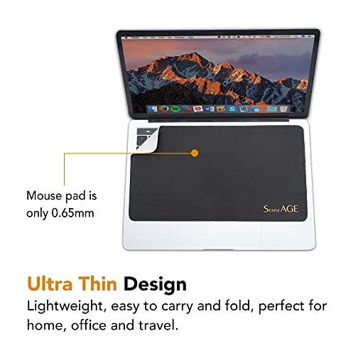 SenseAGE 3-in-1 Mouse Pad, Multi-Functional Microfiber Mouse Pad for Laptop, Portable & Washable Keyboard Mat, Monitor… |