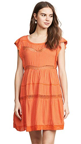 Free People Women's Retro Kitty Dress, Tangerine, X-Small