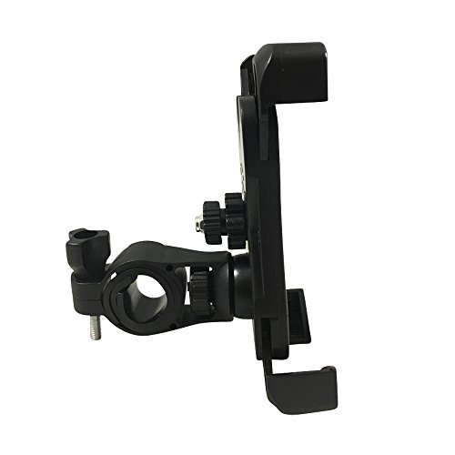 Universal Bike Phone Mount Holder for Bicycle Handlebar Cell Protection – Great for Dirt Motorcycle Road Exercise Bicycles – Fits all Smartphones including iPhone Plus Android Galaxy with Case – Anti