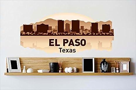 El paso texas tx skyline vinyl decal color as seen size8x30