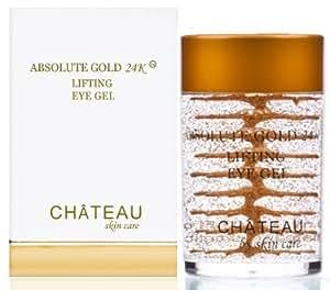 Absolute Gold 24K Lifting Eye Gel - 24 KARAT GOLD, SILK PEPTIDES and HYALURONIC ACID. 1 fl.oz-30 ml. (Fragrance Free, Cruelty Free, Paraben Free, Petroleum Free.)