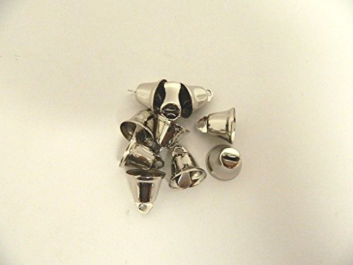 LOT of 50pieces -Craft Bells SMALL 14MM SILVER LIBERTY JINGLE BELLS Charms Pendants Jewelry Making Embellishments Sewing threading Crafts Projects, Christmas Tree Supplies Festive - Vienna Indian Shop