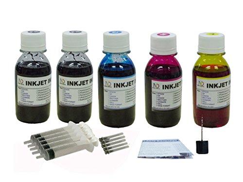 ND R@ 5X100ML Refill Ink for Canon 243 244 PG-243 CL-244 PIXMA MG3020 TS202 TS302 TS3120 TS3122 -  Dinsink, 5X100ML/S-C243