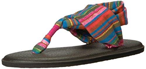 Sanuk Women's Yoga Sling 2 Solid Vintage Flip-Flop, Cabaret Kauai Blanket, 06 M US