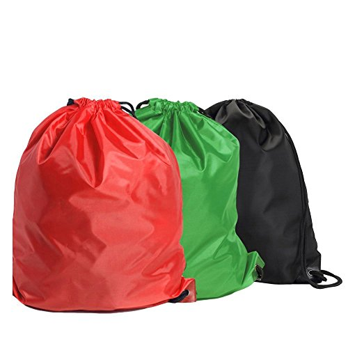 BINGONE Folding Sport Backpack Nylon Drawstring Bag Home Travel Sport Storage Use