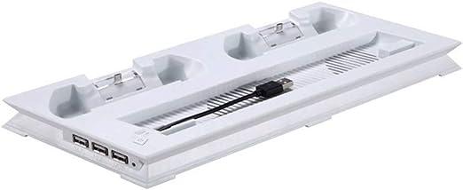 PS4 Pro - Soporte vertical con ventilador de refrigeración y ...