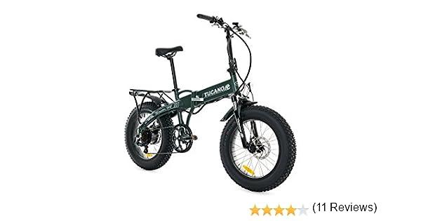 Tucano Bikes Monster HB Bicicleta Eléctrica Plegable, Verde (Mate), Talla Única: Amazon.es: Deportes y aire libre