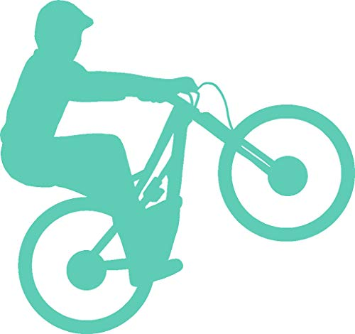 hBARSCI Mountain Bike Wheelie Vinyl Decal - 5