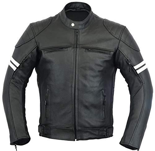 GEARX Franklin Leder Motorrad Jacke Motorradfahrer Männer Schutz Mantel
