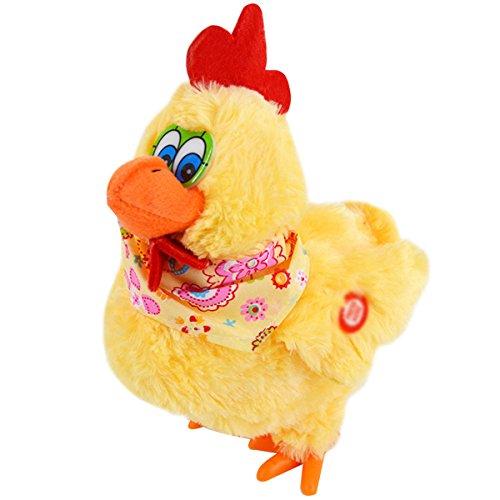Millya mignon en peluche poupée en peluche Poulet électronique avec chant, la pose de marche, œufs, cadeau de Noël pour enfants