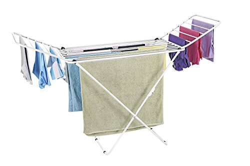 Bonita Mighty Clothes Drying Stand, Shrink Wrap, White-Multi
