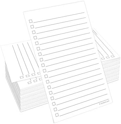 "321Done Checklist Cards (Set of 50) 3"" x 5"" - Double Sided Index Cards - Notecards with To Do Checkboxes - Thick Card Stock - Made in The USA"