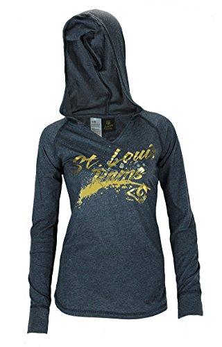 - Outerstuff St. Louis Rams NFL Juniors Women's Fabulous Long Sleeve Hooded Shirt, Navy
