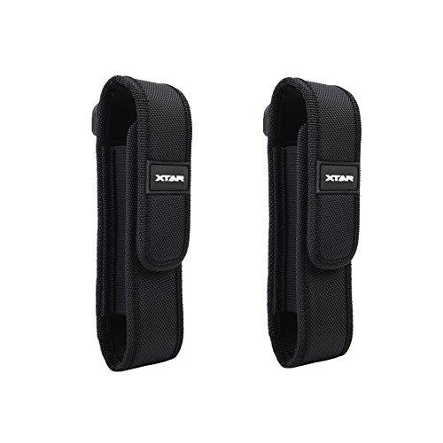 CS Force Molle Flashlight Holster Battery Pouch Holder for Surefire G2 6P E2L UltraFire 501B 502B Fenix UC30 UC35 E35 XTAR TZ20 2 Pack