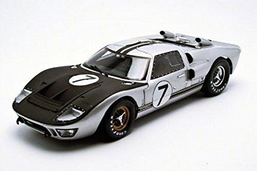 (1966 Ford GT-40 MK II, Silver - Shelby SC404 - 1/18 Scale Diecast Model Toy Car)