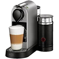 Nespresso CitiZ Espresso Machine Bundle with Aeroccino Milk Frother by Breville, Silver