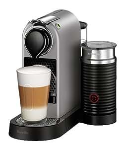 Breville BEC680SIL1BUC1Nespresso CitiZ Original Espresso Machine with Aeroccino Milk Frother Bundle by, Silver