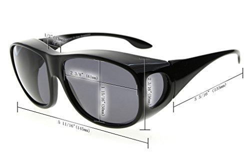 pour verres de Polarisee soleil lunettes Retro Lunettes Eyekepper de Noir prescription Large Style qwgHtZX8