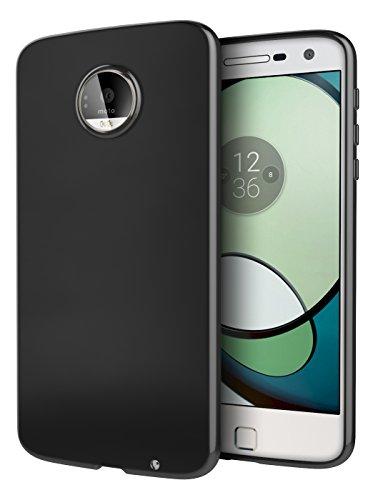Moto Z Play Case, Cimo [Grip] Premium Slim Protective Cover for Motorola Moto Z Play Droid (2016) - Black