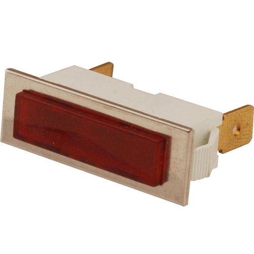 (SOUTHBEND Raised Lens Indicator Light Red Lens PE139)