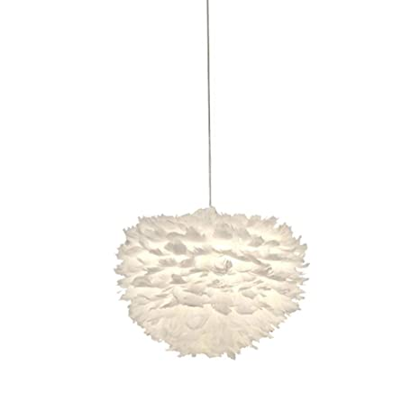 Iluminación Luz De Techo Lámpara Colgante Plumas Blancas ...