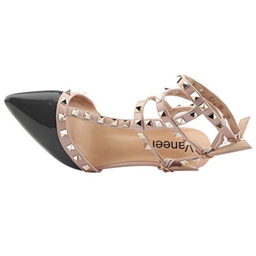 VaIris Noir 7CM Boucle Vaneel Chaussures Femme Aiguille Escarpins 5n0xq1zx