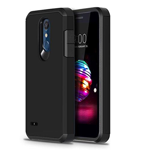 LG K30 Phone Case, LG Harmony 2 Case, LG Phoenix Plus Case, LG K10 2018 Case, LG Premier Pro LTE Case, OEAGO Hybrid Shockproof Drop Protection Impact Rugged Heavy Duty Dual Layer Armor Case, Black